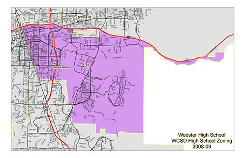 Wooster High School Bus Zone Map