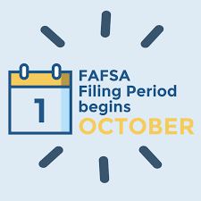FAFSA opens on October 1, 2020